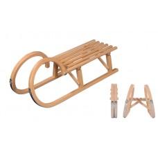 VT Sport Folding Horned 100 Wooden Sledge